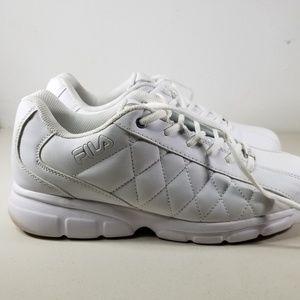 Fila Men's White Leather Walking Shoes Size 11.5US